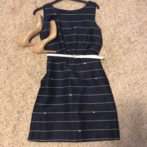 The Limited Belted Nautical Dress (Navy/8)